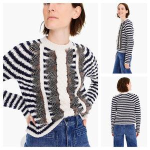 J. Crew Collection Crewneck Sweater Embellished L